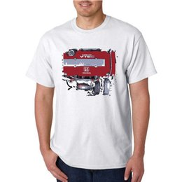 Honda Engines Australia - Honda Civic Type R Racing Engine Distress Paint Style Logo New T-Shirt