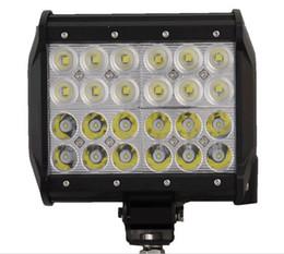 trailer lights 2018 - 1pcs 72W 7 inch LED Work Light Flood Driving Lamp for Car Truck Trailer SUV Offroads Boat 12V 24V 4WD cheap trailer ligh