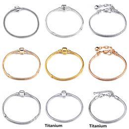 $enCountryForm.capitalKeyWord Canada - Luxury 3mm Snake Chain Pure Copper Bracelet Fit Pan Charm Bracelets & Bangles Jewelry Gift For Men Women 17-21cm