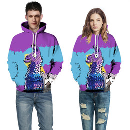 Horse Suit NZ - 2018 European and American Couple Wear Sweater Horse 3D Digital Printing Hat Baseball Suit Autumn Winter Wear A0370