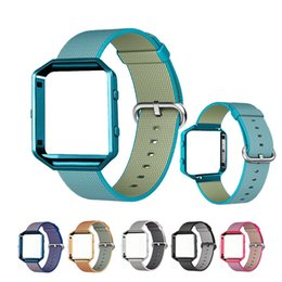 Discount colorful watch bands - Sport Nylon Woven Watch Band For Fitbit Blaze Smart Watch Bands Colorful Bracelet Wrist Strap With Stainless Steel Metal