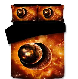 $enCountryForm.capitalKeyWord Australia - 2018 3D Bedding Sets Bed Sheets Queen Planet Printing Pattern Duvet Covers New Style Stare Was Pillow Case Polyester King Size Mix Wholesale