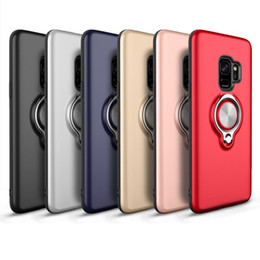 $enCountryForm.capitalKeyWord NZ - Phone Cases Circular Ring Button Vehicle Magnetic Absorption TPU Cases For Samsung S8 S9 Plus Note 8 Case Case Full Package 6 Colors