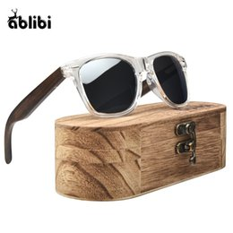 bamboo protection 2018 - Ablibi Men's Bamboo Wooden Polarized Sunglasses Women Silver Shades Mirror Lens Clear Frame UV400 Protection in Vintage