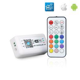 Rgb Wireless Controller Australia - Wifi controller RGB wireless RF 21 key remote control intelligent lighting LED lighting controller compatible with Amazon Alexa