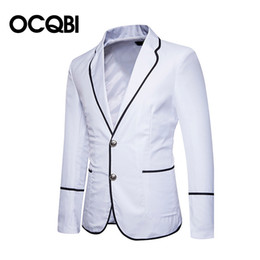 Casual blazers style for men online shopping - New Fashion Preppy Style Casual Blazer for Men Regular Slim Office Jacket Notch Men Casual Wears