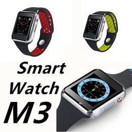 CapaCitive watCh online shopping - M3 Smart Watches With inch LCD OGS Capacitive Touch Screen Smartwatch SIM Card Slot Camera for Android Phone Watches