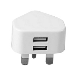 S3 charging port online shopping - White Color pin UK GB Dual usb ports A Fast charging wall charger power adapter for samsung s3 s4 s6 s7 android phone