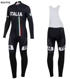 Discount cycling jerseys rock - Pro Italy Winter Fleece 2018 Cycling Jersey Long Sleeve Racing MTB Bike Maillot Rock Racing Clothing Ropa Ciclismo