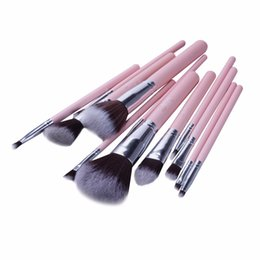 $enCountryForm.capitalKeyWord NZ - Jessup Brand 12pcs Pink Silver Professional Makeup Brush Set Beauty Make Up Cosmetics Kit Eyeshadow Foundation Blusher Tools