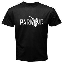 $enCountryForm.capitalKeyWord Australia - New Parkour Logo Free Run Jump Extreme Sports Men's Black T-Shirt Size S to 3XL T Shirt For Men Designed Short Sleeve Fashion Custom XXXL Co