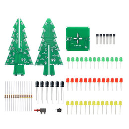 regulator circuits 2019 - Three-Dimensional 3D Christmas Tree LED DIY Kit Red Green Yellow LED Flash Circuit Kit Electronic Fun Suite discount reg