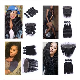 thick virgin deep wave brazilian hair NZ - New Arrival New Silky Straight New Bouncy Bodywave Thick Kinky curl Deep wave Loose wave 100% human hair weaves remy virgin