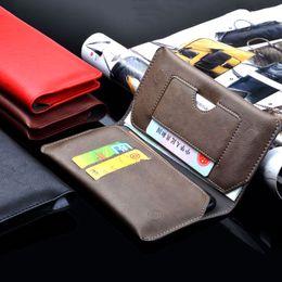 Funda de cuero universal de lujo para el teléfono huawei honor 9 8 7 6 5 funda lite Funda de cartera con ranura para tarjeta Bolso de cubierta retro en venta