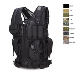 China Outdoor Shooting Outdoor Camouflage Body Armor Combat Assault Waistcoat Tactical Molle Vest Plate Carrier Vest NO06-013 supplier combat vests suppliers