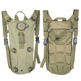 TacTical bag khaki online shopping - 3L Portable Hydration Packs Camo Tactical Bike Bicycle Camel Water Bladder Bag Assault Backpack Camping Hiking Pouch Water Bag