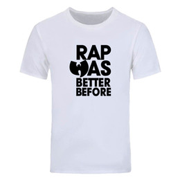 diy tee shirts Australia - Wu Tang Clan T Shirt Men Summer Fashion Rap Was Better Before T Shirts Short Sleeve Cotton Hip Hop O-neck Tops Tees DIY-0708D