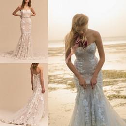 $enCountryForm.capitalKeyWord Australia - Sweetheart Neckline 2018 Wedding Dress Full Lace Mermaid Bridal Gowns Sexy Backless BHLDN Beach Wedding Dresses Custom Made