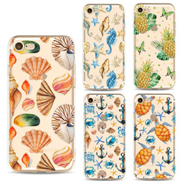 $enCountryForm.capitalKeyWord NZ - Phone Cases For iphone X 6S 7 8 Plus 5S Samsung Galaxy S8 S9 Plus Note 8 case Cute Cartoon Summer Ocean Soft TPU painted Back cover shell