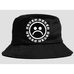 Discount wholesale flat brimmed hat - Flat Fisherman Hat Black Bucket Hat  Men Women HipHop Cap 8df64130fadb