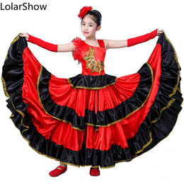 3fb9d7d92c74 Kids Flamenco Skirts Spanish Flamenco Dancen For Girl Spanish Senrite  Dancer Fancy Dress Costume Sc 1 St DHgate.com