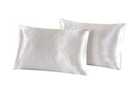 Ingrosso Naturelife Silk Satin Federa Home Multicolor Ice Silk Federa di colore solido Double Face Busta Cover