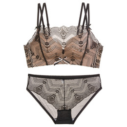 9b3ed96011 2018 new summer floral lace breathable sexy women underwear sets seamless  thin cup push up young ladies bow lingerie for girls