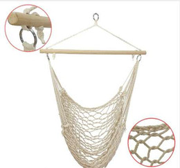 kids hammock swing NZ - SGODDE Outdoor Hammock Chair Hanging Chairs Swing Cotton Rope Net Swing Cradles Kids Adults Outdoor Indoor Hot Sale