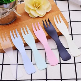 $enCountryForm.capitalKeyWord NZ - wholesale 3000pcs 11.5cm Disposable Plastic Fork Cutlery Catering Party BBQ Camping Travel Wedding Birthday Supply