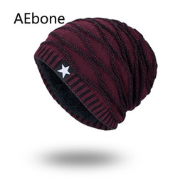 $enCountryForm.capitalKeyWord UK - AEbone Bonnet Homme Men Knitted Beanies Hats Winter Hats for Man Burgundy Baggy Beanie Hat Male Velvet Scrunchies AE8259