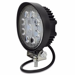 Chinese  4 Inch 27W LED Work Light Flood Fog offroad ATV 4x4 Driving Lamp 12V for Motorcycle Tractor Truck Trailer SUV Boat 4WD manufacturers