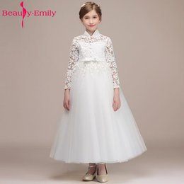 9b869442888b wholesale White Little Flower Girl Dresses 2018 Appliques Wedding Party  Prom for Kids