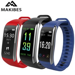 Water Resistant Gps NZ - New Makibes KR02 Smart Wristband GPS BT 4.0 Fitness Tracker Heart Rate Monitor IP68 Water Resistant Touch Screen Smart Bracelet