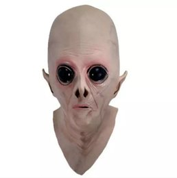Alien toys online shopping - Scary Silicone Face Mask Alien UFO Extra Terrestrial Party ET Horror Rubber Latex Full Masks For Halloween Party Toy Prop