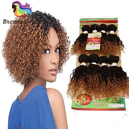 red black human hair Canada - Peruvian human virgin hair 8pcs per pack natural two tone red burgundy kinky curly braids hair extension brown hair for black women UK USA