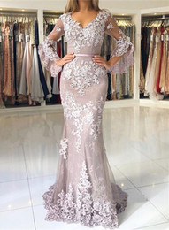 a5b5bf69415 MerMaid delicate proM dresses online shopping - Delicate Lace Long Sleeve  Mermaid Evening Dresses Mermaid Prom