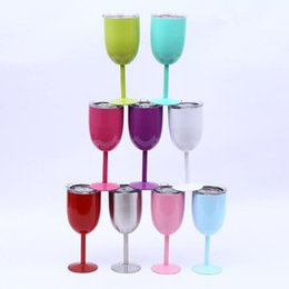 $enCountryForm.capitalKeyWord Australia - 25pcs  Creative Fashion Home Goblet 304 Stainless Steel Vacuum Insulation Cup Foreign Trade Red Wine Cup Creative Gift