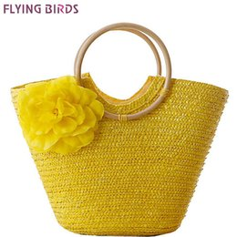 bird bag yellow NZ - FLYING BIRDS! 2018 beach bag women handbags Bohemian women straw bag summer handbags bolsas women's bags travel bags LS8880fb