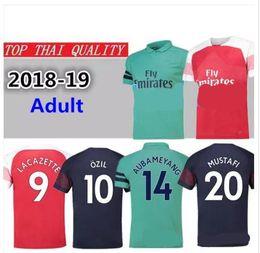 81fe3027ddd 2018 Arsenal Gunners OZIL AUBAMEYANG soccer jersey 18 19 ALEXIS WILSHERE  GIROUD LACAZETTE CHAMBERS XHAKA home football shirt free shipping
