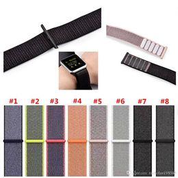 $enCountryForm.capitalKeyWord NZ - Sport Nylon Loop Bands for Apple Watch Wrist Strap 38 42mm Bracelet Belt Woven Nylon Watchband for iwatch 3 2 1 Soft Lightweight Breathable
