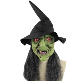 $enCountryForm.capitalKeyWord Australia - Halloween Ghastful Scary Horrible Realistic Creepy Witch Mask Masquerade Supplies Party Props Cosplay Costumes