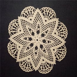 $enCountryForm.capitalKeyWord NZ - Hand Beige Crochet Doily, Small Lace Doily, Wedding Cotton Doily, Crochet Centerpiece, Lace Tablecloth, Table Topper, 12 inches