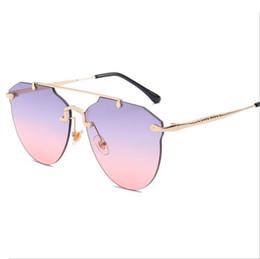 $enCountryForm.capitalKeyWord NZ - Rimless Oversized Sunglasses Women Big Frame Shield Sun Glasses Female Brand Designer 2018 New Vintage Gradient Shades Eyewear