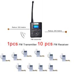 Discount built antenna - Church Meeting Wireless FM Radio Transmitter Micro USB Charging External Antenna Transmission Distance 500m (1pcs TX 10p