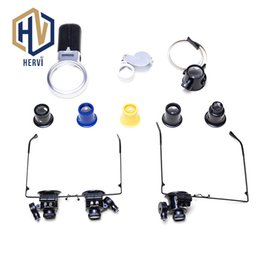 Loupe 15x Australia - Watch Tools Watch Repair Tool Kit Head Wearing Magnifying Glass W  LED Lights 5x 10x 15x 20x Loupe Repair Magnifier AS3