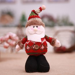 Christmas Ornament Stands NZ - Hot Show Case Decoration Gadget Standing Toy Santa Reindeer Snowman Doll Christmas Tree Xmas Wall Window Office Home Ornament