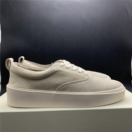 Chinese  Newest Fear Of God x Mens Casual Shoes The Season 5 Suede Skateboarding Shoes Italy Luxury Slip-On FOG Fashion Designer Shoes manufacturers