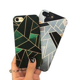 $enCountryForm.capitalKeyWord UK - Geometric ink gree phone shell for iPhone 6s   7plus original all-round scrub hard shell men and women fashion phone case cover