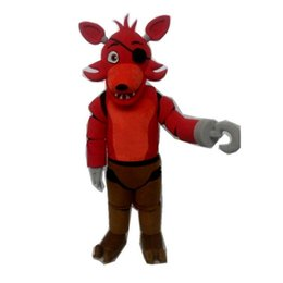 mascot toys NZ - Five Nights at Freddy's FNAF Creepy Toy red Foxy Mascot Costumes Cartoon Character Adult Sz 100% Real Picture