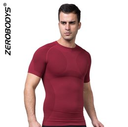 Man shapers online shopping - Zerobodys Men T shirt Undershirt Bodybuilding O Neck Absorption Perspiration Quick Drying Men s Body Shapers